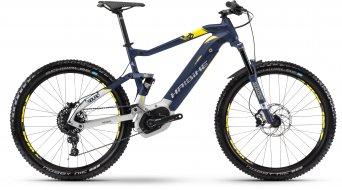 """Haibike SDURO FullSeven 7.0 500Wh 27.5"""" MTB(山地) E-Bike 整车 型号 L 蓝色/银色/citron matt 款型 2018- 样品/演示品- Lackmacke 于 der 前叉 上 左"""