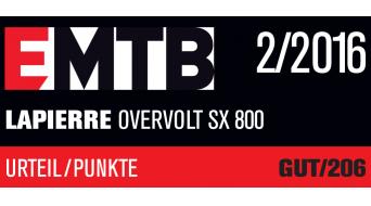 Lapierre Overvolt SX 800 27.5 / 650B MTB E-Bike Komplettbike Gr. 42cm (S) Yamaha NPU X943-Motor Mod. 2016