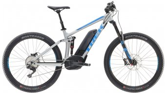 Trek Powerfly FS 8 LT+ 650B / 27.5 MTB E-Bike Komplettrad Gr. 39.4cm (15.5) matte trek black/waterloo blue Mod. 2017