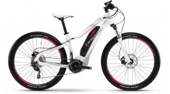 Haibike SDURO Hardlife SL 27.5 MTB E-Bike Damenrad Gr. 50cm weiß/grau/pink matt Yamaha-Antrieb Mod. 2016