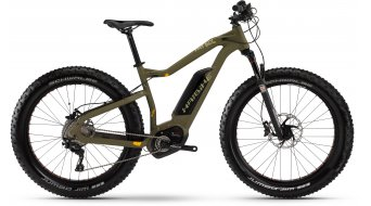Haibike XDURO FatSix RX 26 Fatbike E-Bike olive/orange matt Bosch Performance CX-Antrieb Mod. 2016