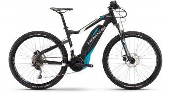 Haibike SDURO HardSeven 5.5 27.5 MTB elektromos kerékpár komplett kerékpár fekete/fehér/cyan matt Yamaha PW-meghajtás 2017 Modell
