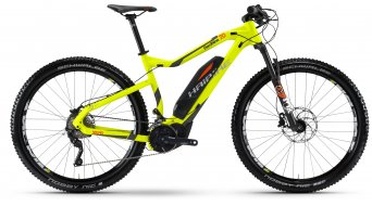 Haibike SDURO HardNine 7.0 29 MTB E-Bike bici completa lime/antracita/naranja color apagado Yamaha PW-X-tracción Mod. 2017