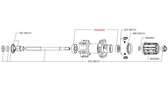 Mavic kit rodamiento para buje M40660- rueda trasera 1x6001: 28x12x8, 1x608: 22x8x7