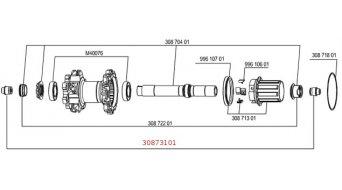 Mavic Adapter von 12x135 auf 9/10mm x135 fuer Crossmax SX/ST/SLR, Crossline, Crossride und Deemax Ultimate ab Mod. 2012
