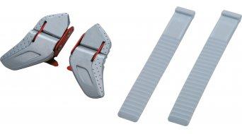 Shimano SH-R320/SH-R170W Ratschen- y Riemenverschluss-juego (carraca: color plata-rojo(-a)/correa: blanco(-a)) (par)