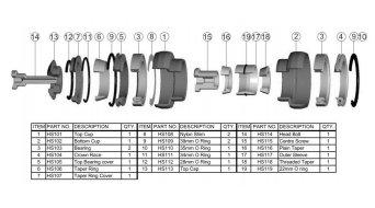 Hope dirección componentes tornillo para A-Head gorro(-a)