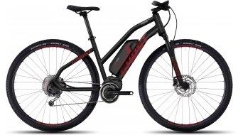Ghost Square Cross 2 AL 29 E-Bike bici completa Señoras-rueda negro/color neón rojo/urban gray Mod. 2017