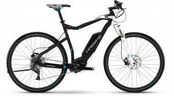 Haibike XDURO Cross RC 28 E-Bike Gr. 48cm anthrazit/weiß/cyan matt Bosch Performance CX-Antrieb Mod. 2016