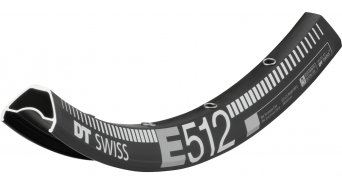 DT Swiss E 512 27.5/650B Disc MTB llanta Loch negro(-a)