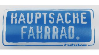 HIBIKE Hauptsache Fahrrad. Weithals Trinkflasche 0,75l transparent
