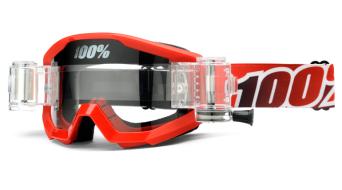 100% Strata Goggle 含有SVS Roll-Off System