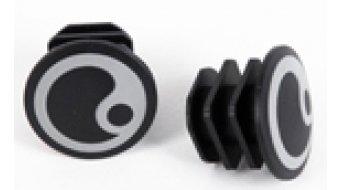 Ergon tapón(-es) de manillar color plata Logo (para GP1/GP1 BioKork)
