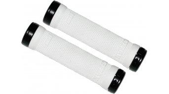 ODI Ruffian 130mm LockOn Griffe weiß mit schwarzen Klemmringen