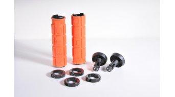 Oury Lock-On MTB Griffe 115mm orange mit schwarzen Klemmringen