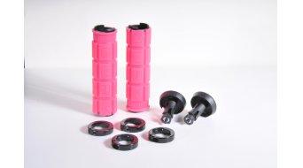 Oury Lock-On MTB Griffe 115mm pink mit schwarzen Klemmringen