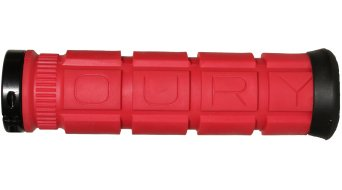 Oury Lock-On MTB Griffe 115mm rot mit schwarzen Klemmringen
