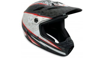 Bell Drop DH-helmet mat black/red 13th floor (with Lackschaden)