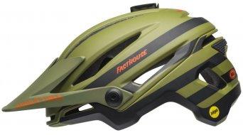 Bell Sixer Mips MTB(山地)头盔 Fasthouse-Edition 型号 matte green/橙色 款型 2018