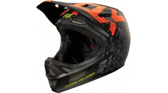 Fox Rampage Pro Carbon Cauz Helm DH-Helm orange