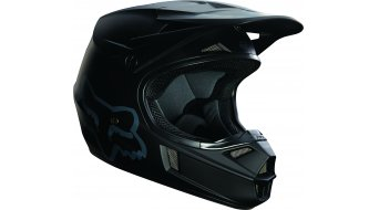 Fox V1 Matte negro casco niños MX-casco matte negro