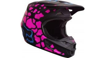 Fox V1 Grav casco Caballeros MX-casco negro/pink