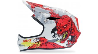 Giro Remedy DH-helmet size L (59-63cm) mat white/red demons