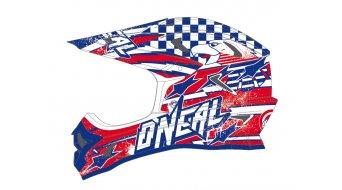 ONeal Fury Fidlock Evo Capt´n DH-helmet blue/red/white 2014
