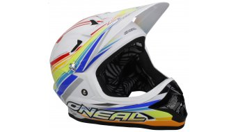 ONeal Fury Fidlock Evo Rainbow DH-helmet white/red/blue 2014