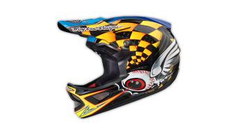 Troy Lee Designs D3 Finishline CF Fullface DH-helmet size S (55-56cm) yellow 2014