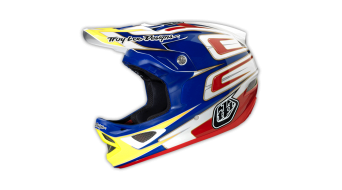 Troy Lee Designs D3 Speed CP Fullface DH-helmet size XXL (62-63cm) blue/white 2014
