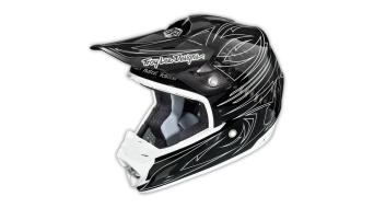 Troy Lee Designs SE3 One Shot CF Helm Fullface MX-Helm one shot black/white Mod. 2015