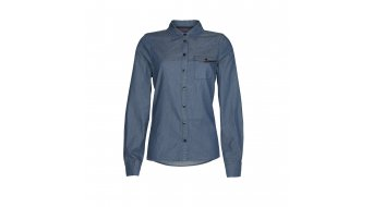 ION Violet camisa manga larga Señoras-camisa camiseta tamaño M insignia azul