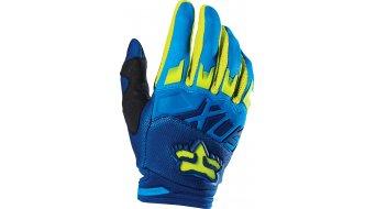 Fox Dirtpaw Race guantes largo(-a) Caballeros MX-guantes Gloves tamaño 8 (S) azul/amarillo