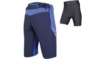 Endura Singletrack III pantalón corto(-a) Caballeros-pantalón MTB Shorts (incl. acolchado) tamaño S marineblau