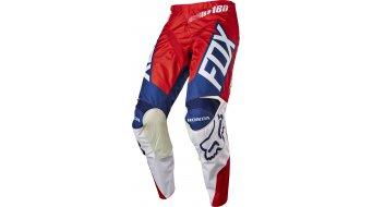 Fox 180 Honda pantalón largo(-a) Caballeros MX-pantalón Pants rojo/blanco