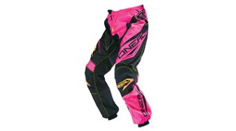 ONeal Element Racewear Hose lang Damen-Hose MX-Hose Gr. 38 pink/yellow Mod. 2016