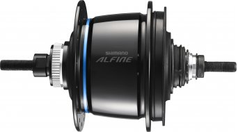 Shimano Alfine Di2 SG-S505 Disc buje de engranaje 8 marchas 36 agujeros Centerlock negro(-a)