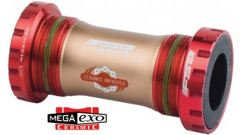 FSA MegaExo Ceramic Cartridge bottom bracket BB-9200 MTB BSA 68mm red anodised