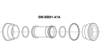 Shimano MTB Press-Fit bottom bracket 41mm SM-BB91-41A