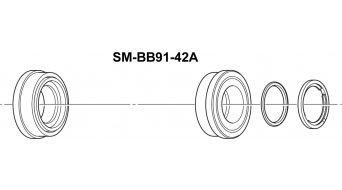 Shimano MTB Press-Fit bottom bracket 42mm SM-BB91-42A