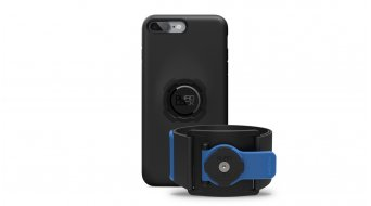 Quad Lock Run Kit iPhone Lauf-手带 + 罩 有Haltevorrichtung black/blue