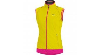 GORE Bike Wear Element Jacke Damen-Jacke Windstopper Active Shell Zip-Off Lady Gr. 34 sulphur yellow/magenta