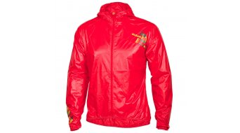Qloom Roebuck Bay Jacke Herren-Jacke Light Weight Hoody Jacket rubin red/lime