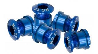 NC-17 tornillos de platos 4/5 agujeros (5 uds.) azul 94/104mm