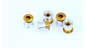 Tune Alu Kettenblattschrauben Set für 2-fach gold (10-teilig) (nicht für Campa Torque-Kurbeln)