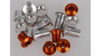 Tune Alu tornillos de platos juego para 3 velocidades naranja (en 15 piezas)