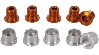 Tune Alu Kettenblattschrauben Set für 2-fach orange (10-teilig) (nicht für Campa Torque-Kurbeln)