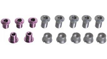 Tune Alu tornillos de platos juego para 3 velocidades rosa (en 15 piezas)
