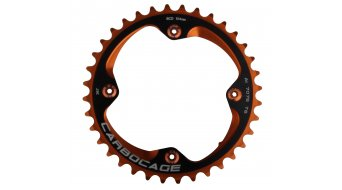 Carbocage Chain Ring Set 34T 4-Loch (104mm) orange inkl. 4 Kettenblattschrauben